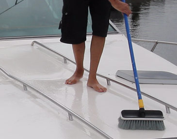 Cleaning Deck With Sure Step