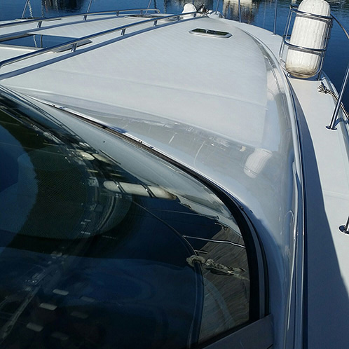shiny boat deck