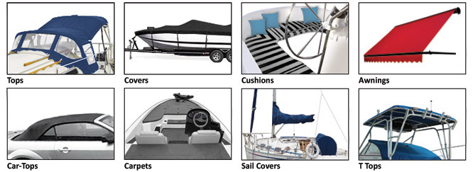 Canvas Shield protects: Tops, Covers, Cushions, Awnings, Car-Tops, Carpets, Sail Covers, T-tops