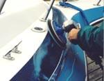 boat scrubbing