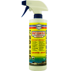 Boat Clean Plus. Boat Cleaner, Degreaser. Free rinsing. Water based, water activated