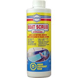 Boat Scrub. Heavy duty fiberglass, stainless, vinyl, boat cleaner, deoxidizer, stain remover, brightener