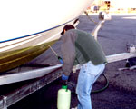 bottom boat cleaning