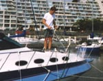 Easy to maintain boat deck. Bird droppings, dirt, foot prints just hose off Sure Step protected nonskid decks.