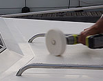 Buffing Sure Step restores your boat deck to brand new.