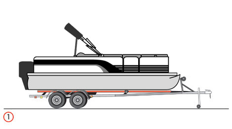 pontoon on trailer picture drawing - aurora marine