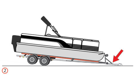 pontoon on trailer - lower front
