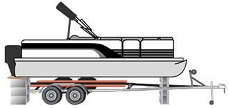 lift pontoon off trailer - step 1